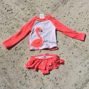 Gymboree swimsuit with long sleeve rashguard